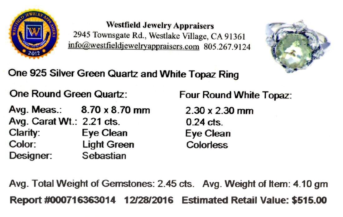 Fine Jewelry Designer Sebastian 2.45CT Round Cut Green - 2