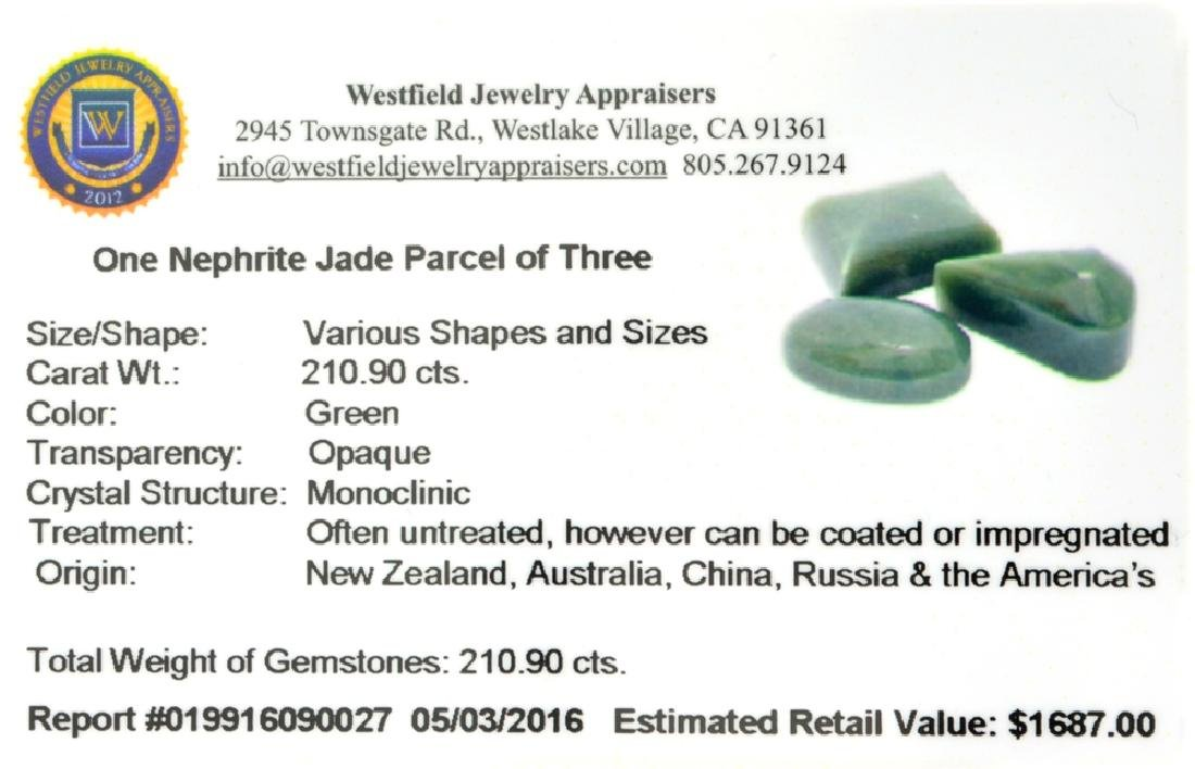 APP: 1.7k 210.90CT Various Shapes And sizes Nephrite - 2