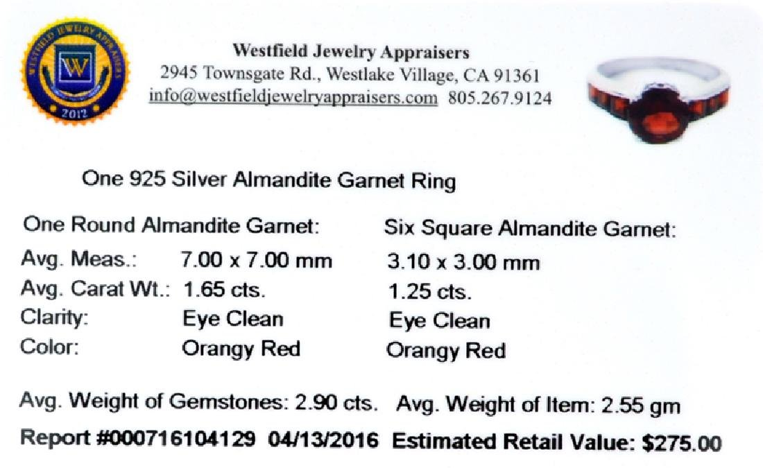 APP: 0.3k Fine Jewelry 2.90CT Almandite Garnet And - 2