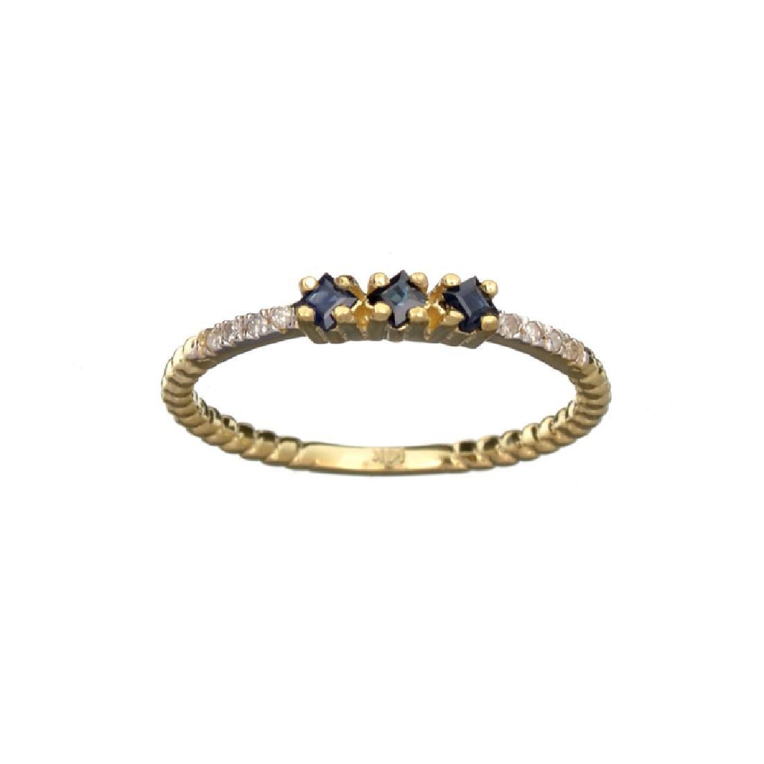 APP: 0.6k Fine Jewelry 14 KT Gold, 0.23CT Blue Sapphire