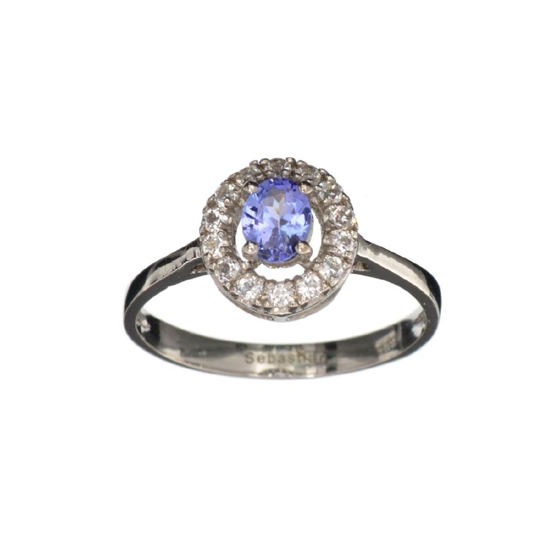 APP: 0.8k Fine Jewelry 0.78CT Tanzanite And White