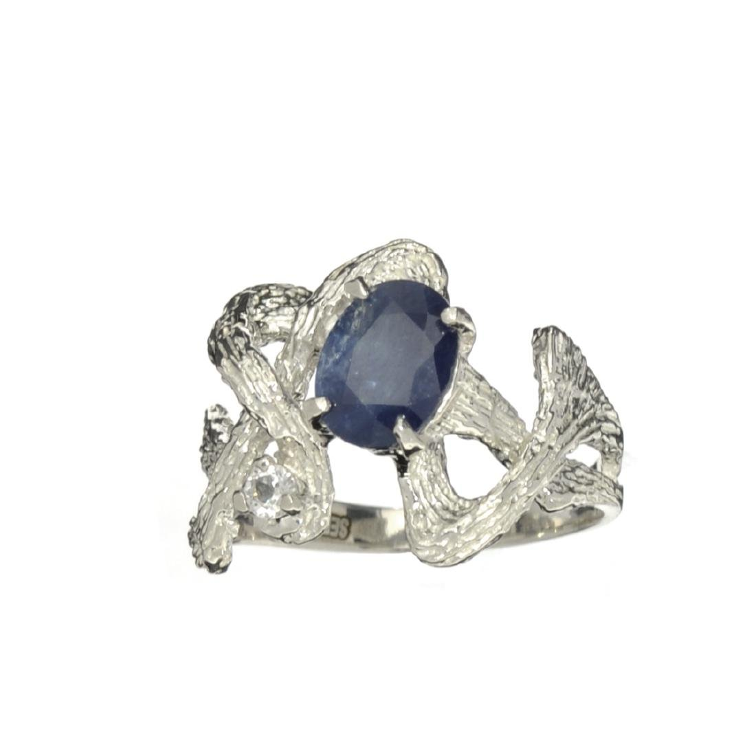 APP: 1.4k Fine Jewelry Designer Sebastian, 1.63CT Blue