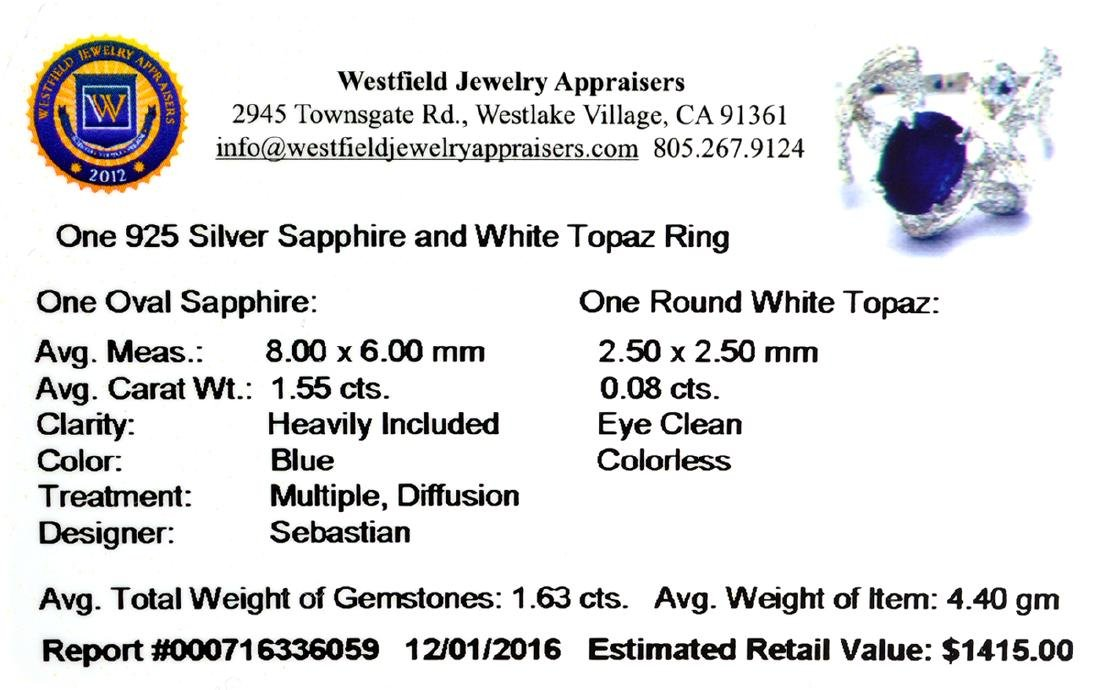 APP: 1.4k Fine Jewelry Designer Sebastian, 1.63CT Blue - 2