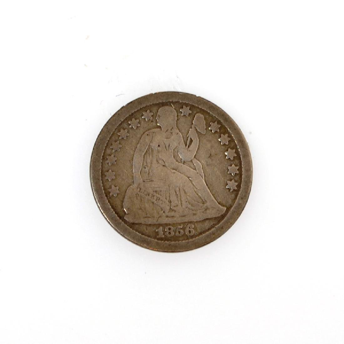 1856 Liberty Seated One Dime Coin