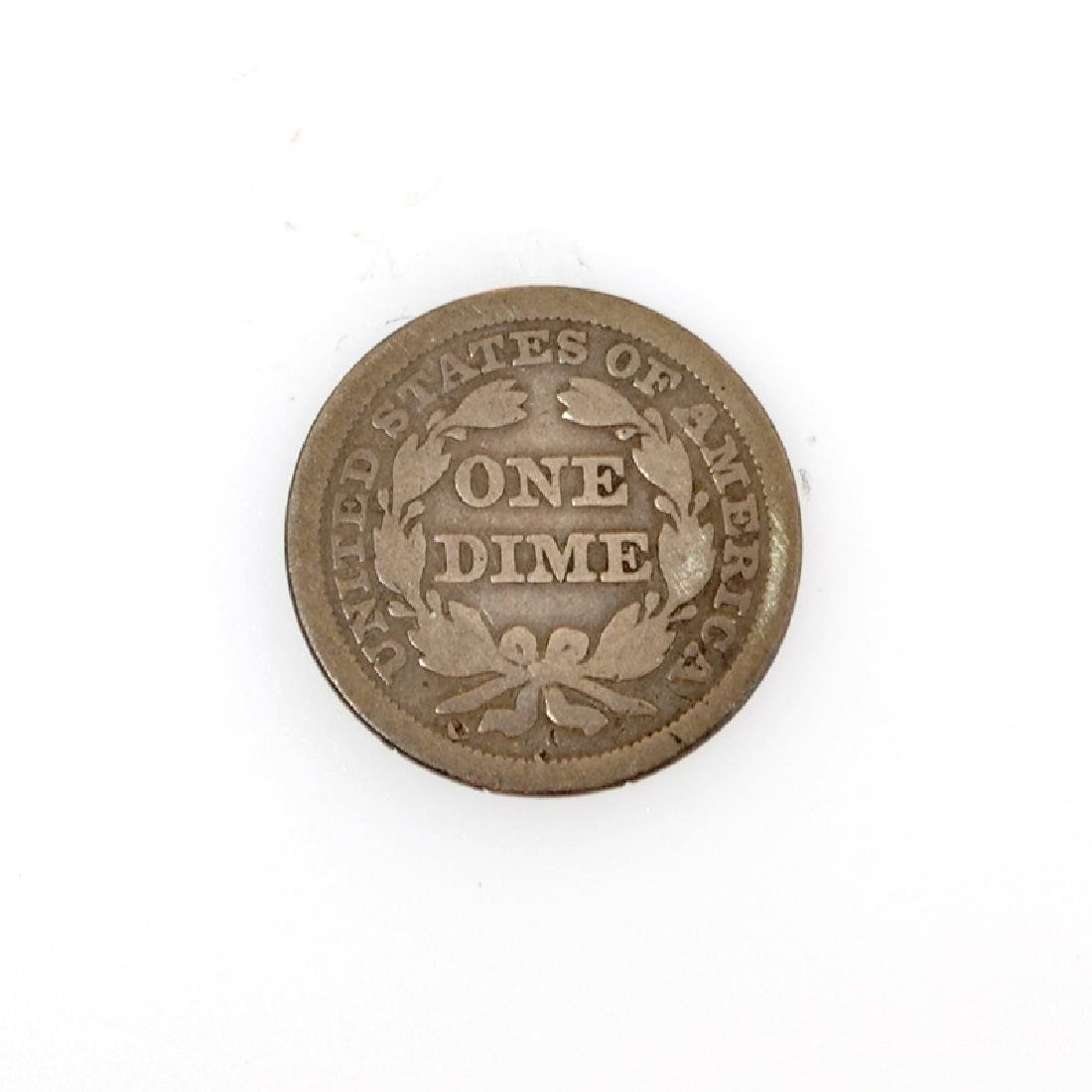 1856 Liberty Seated One Dime Coin - 2