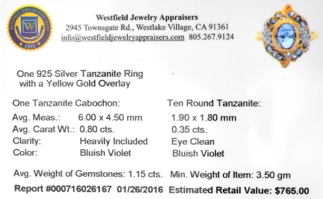 APP: 0.8k Fine Jewelry 0.80CTCabochon Cut Tanzanite - 2