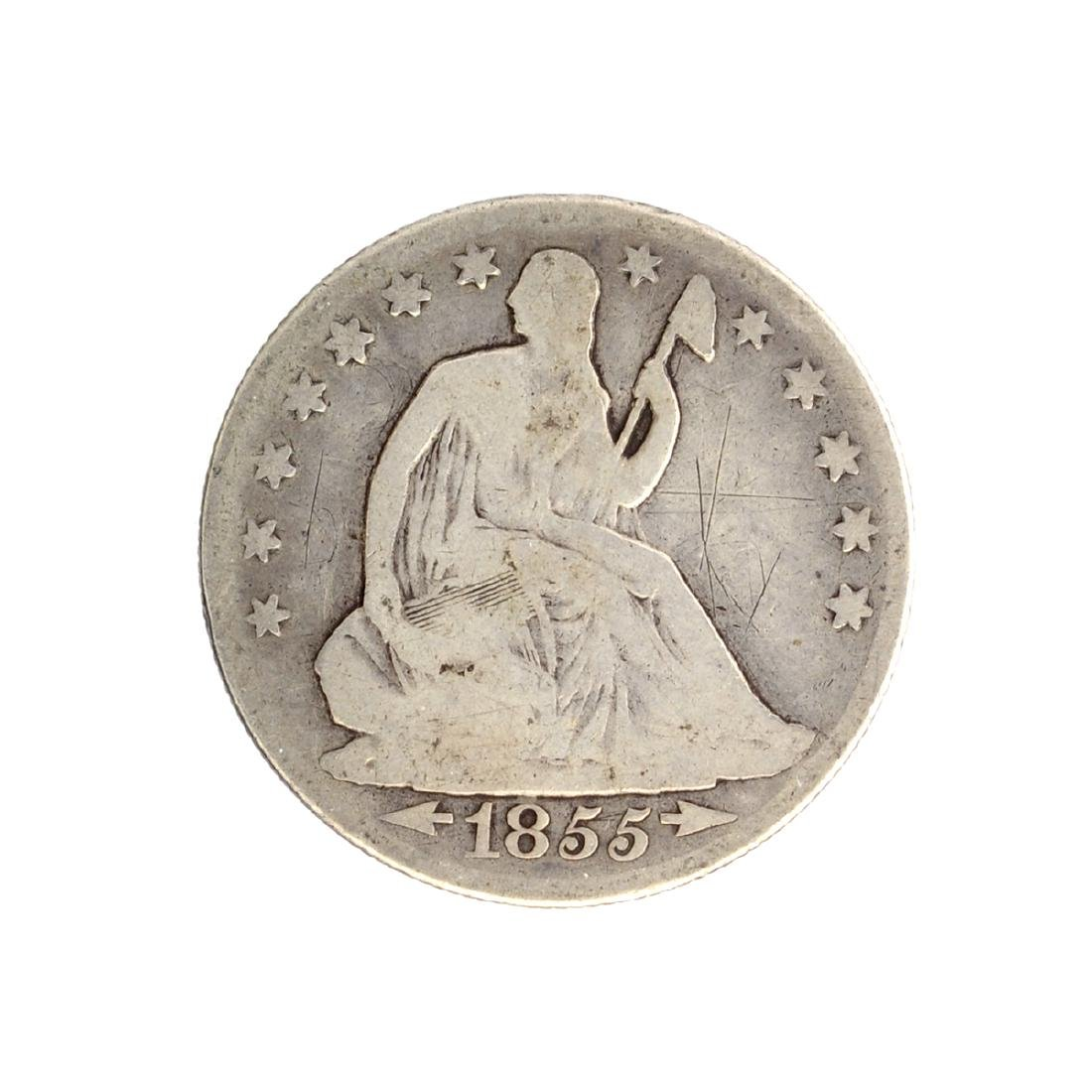 1855-O Arrows At Date Liberty Seated Half Dollar Coin