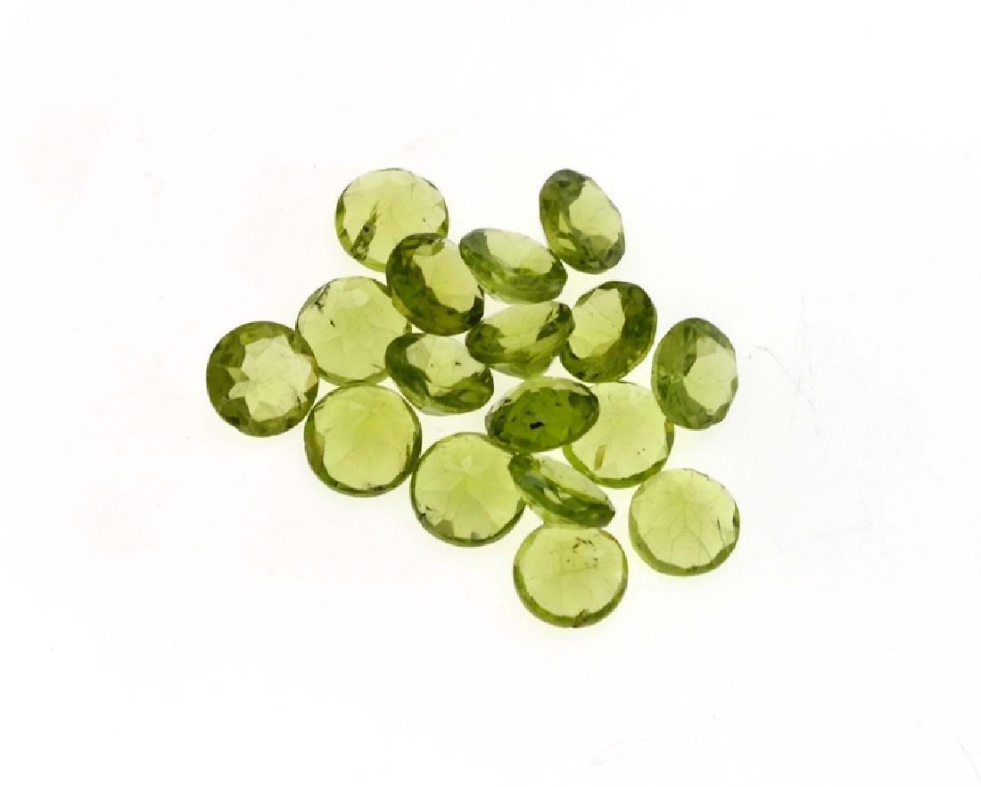 APP: 3k 20.00CT Round Cut Green Peridot Parcel
