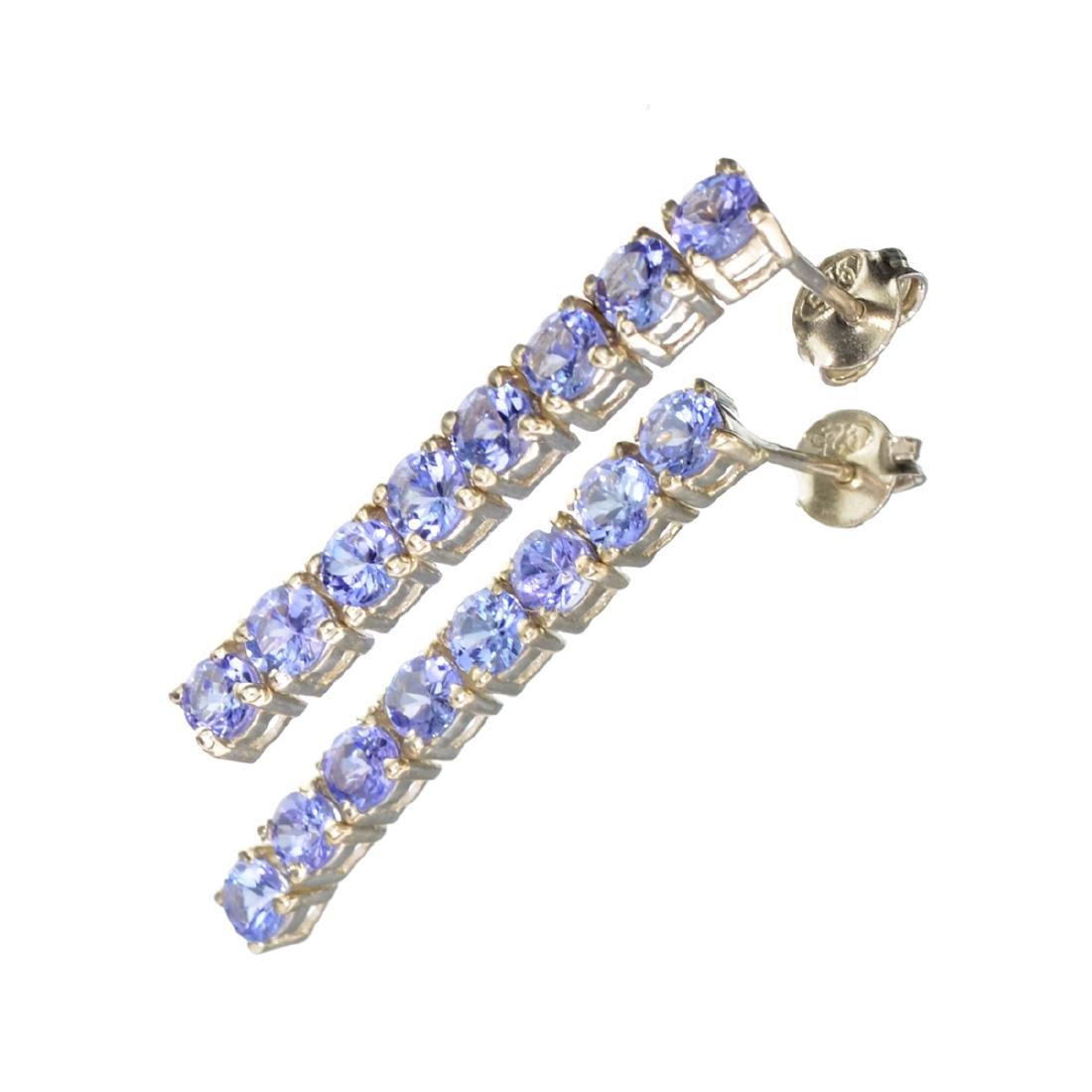 Fine Jewelry 2.74CT Round Cut Violet Blue Tanzanite And