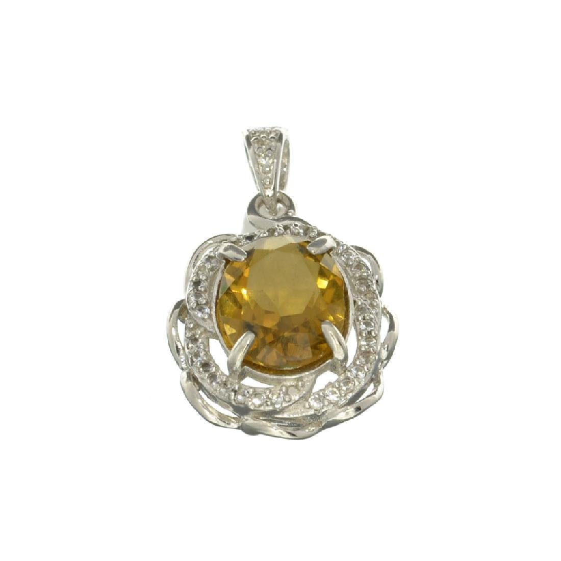 APP: 0.8k Fine Jewelry 2.50CT Oval Cut Citrine/White