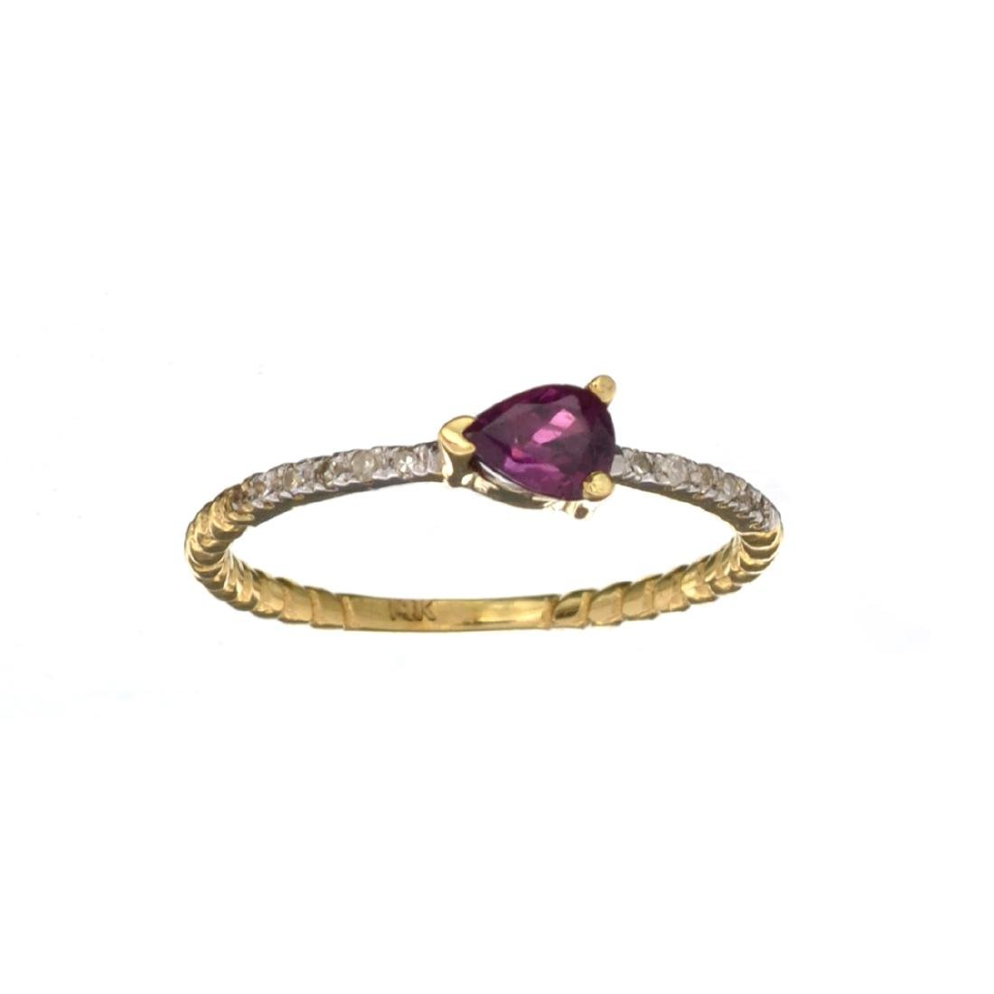 APP: 0.8k Fine Jewelry 14 KT Gold, 0.40CT Ruby And
