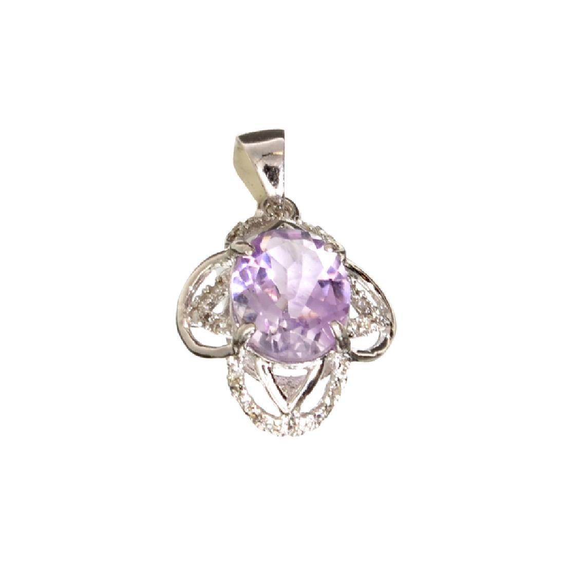 APP: 0.6k Fine Jewelry 2.50CT Purple Amethyst And White