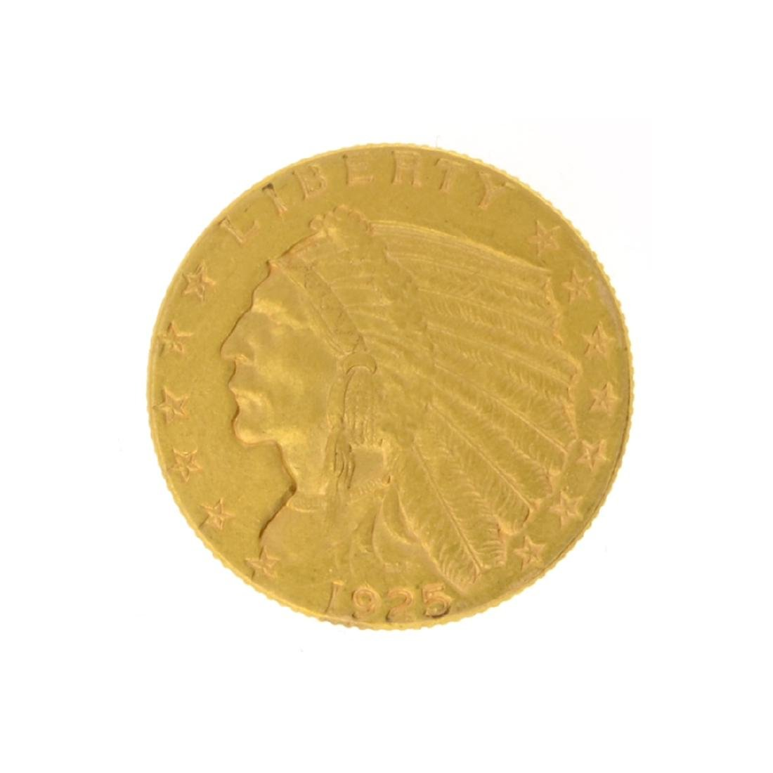 1925-D $2.50 Indian Head Gold Coin
