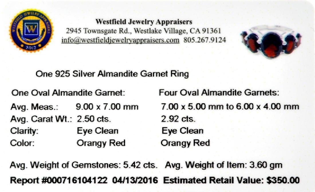 APP: 0.4k Fine Jewelry 5.42CT Oval Cut Almandite Garnet - 2