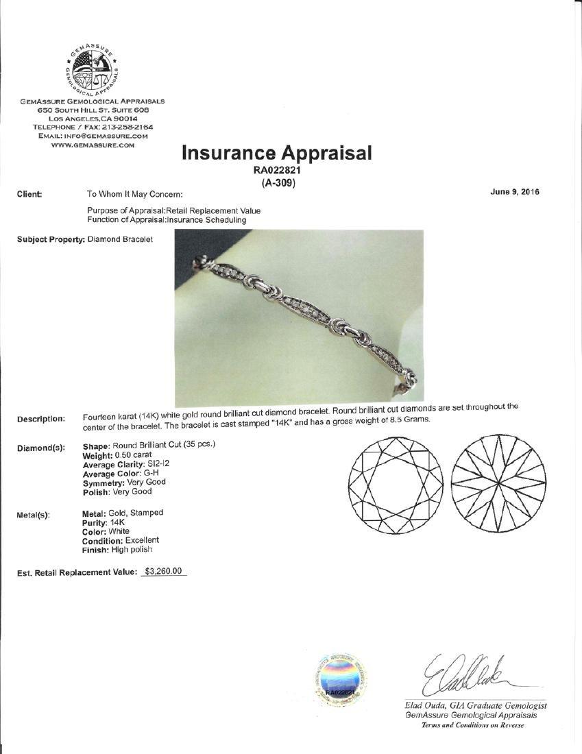 APP: 3.3k *Fine Jewelry 14 KT White Gold, 0.50CT Round - 2