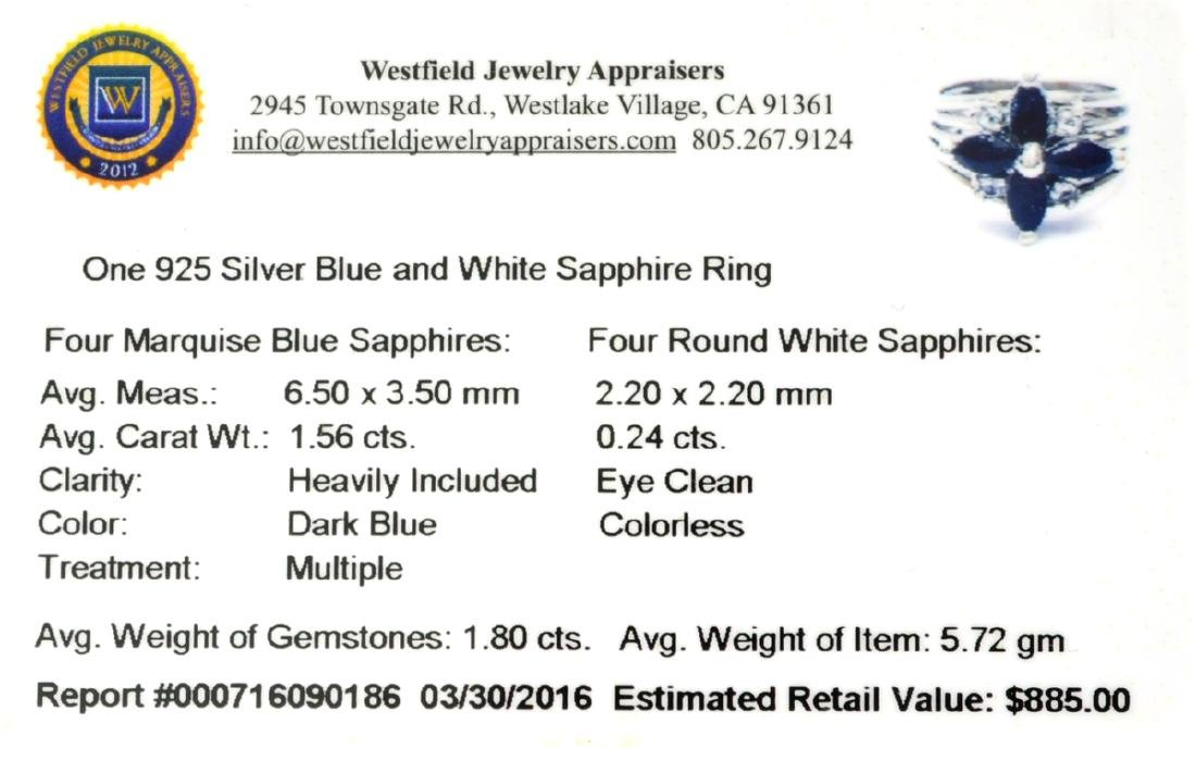 APP: 0.9k Fine Jewelry 1.80CT Blue And White Sapphire - 2