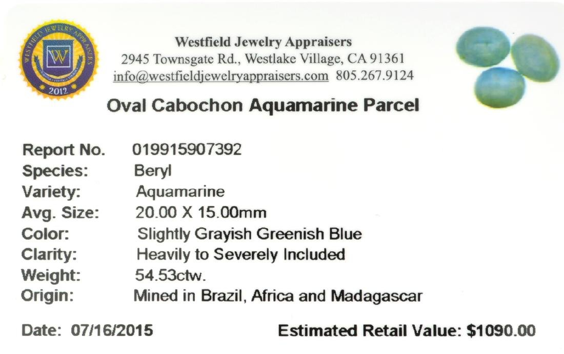APP: 1.1k 54.53CT Oval Cut Cabochon Greenish Blue - 2