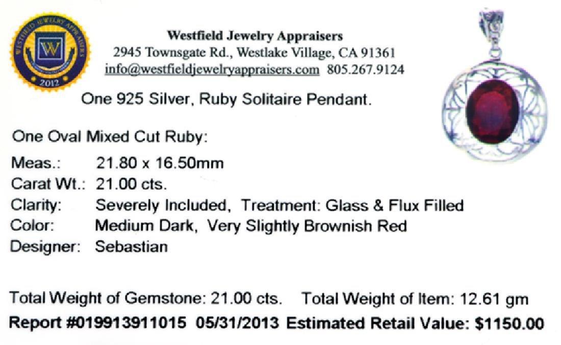 APP: 1.2k Fine Jewelry Designer Sebastian 21.00CT Oval - 2