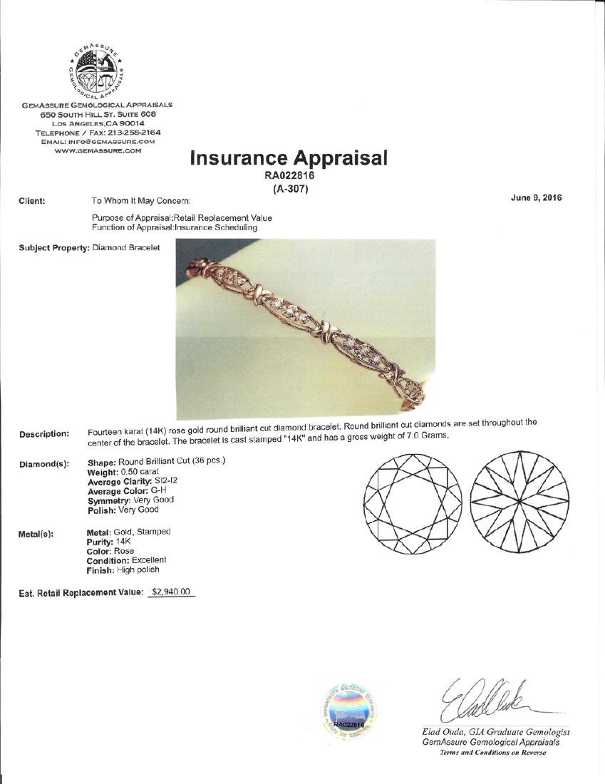 APP: 2.9k *Fine Jewelry 14 KT Rose Gold, 0.50CT Round - 2