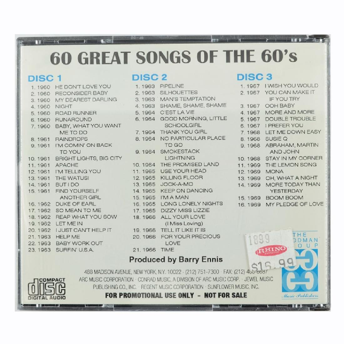 The Goodman Group Presents 60 Great Songs Of The 60's 3 - 2