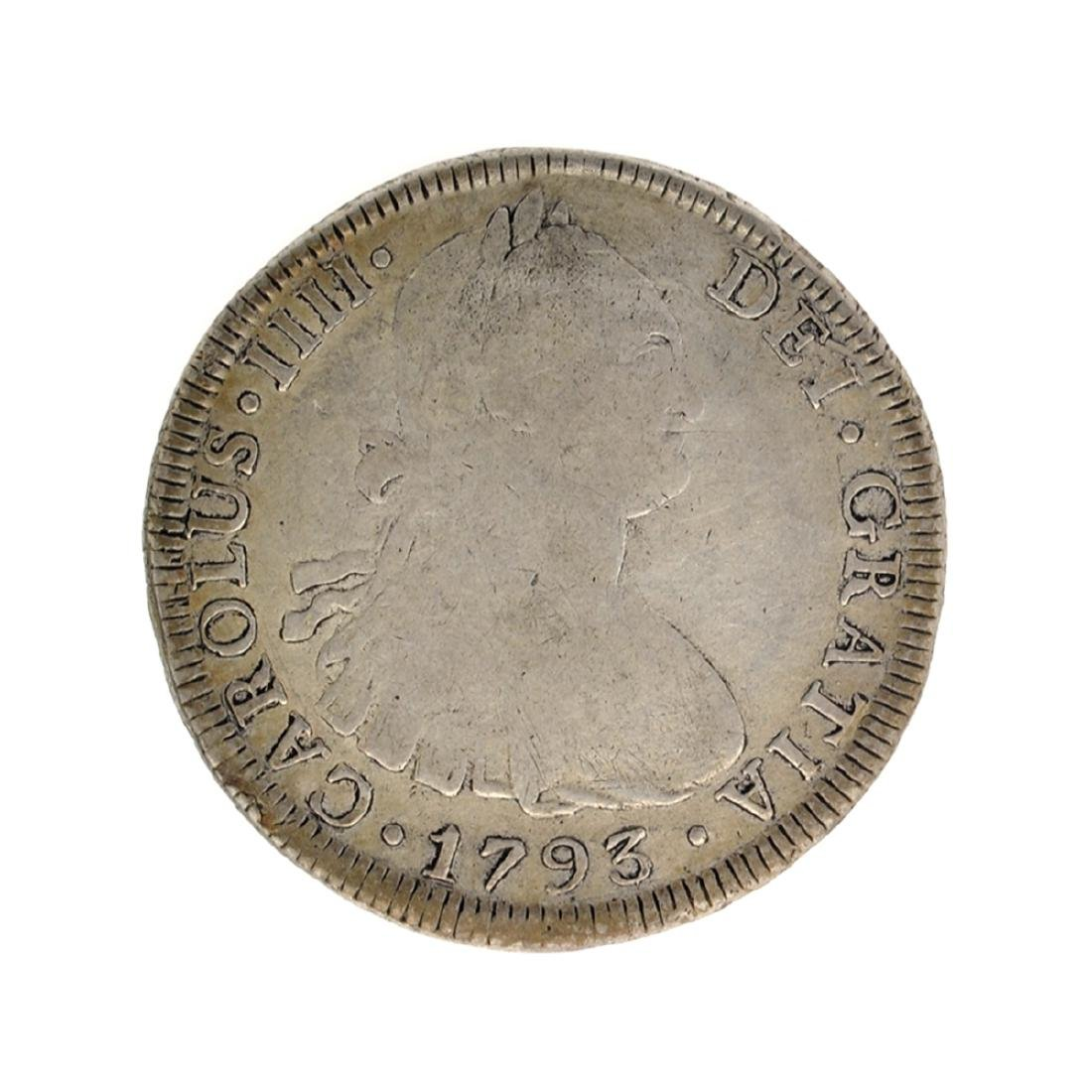 1793 Spanish Colonial 8 Reales Carolus IIII Pillar