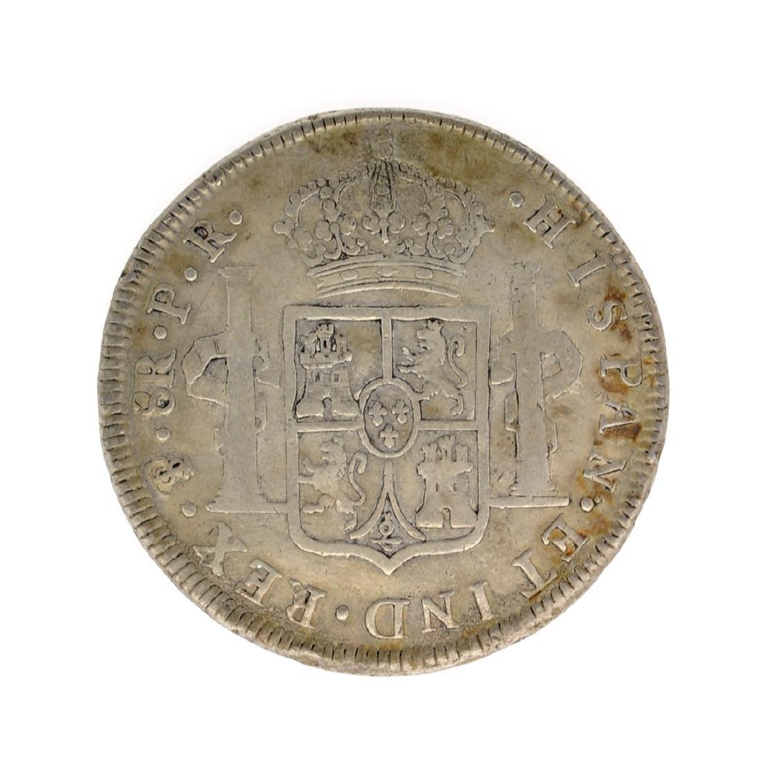 1793 Spanish Colonial 8 Reales Carolus IIII Pillar - 2