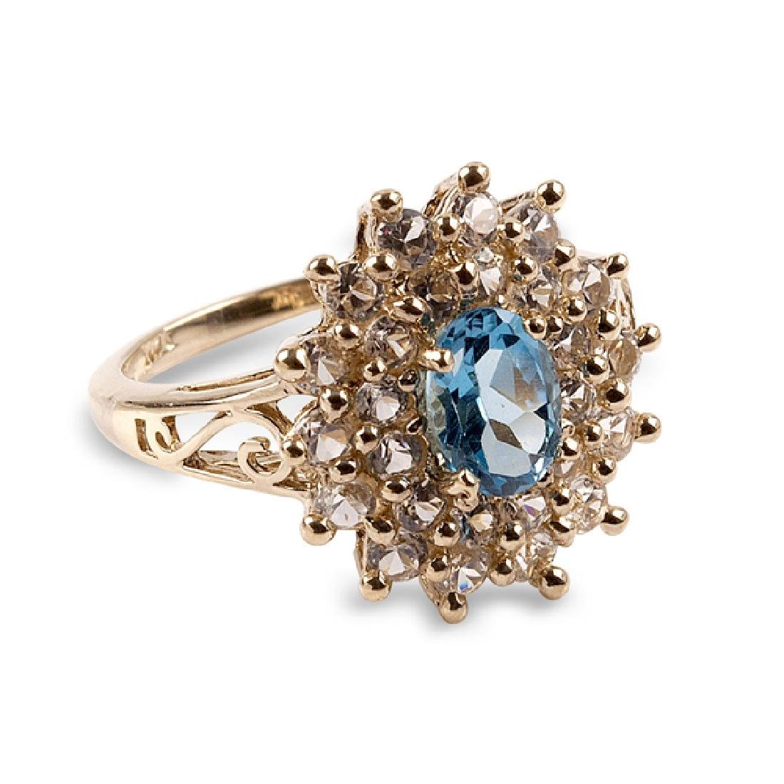 APP: 1.5k 14 kt. Gold, 2.11CT Topaz And White Sapphire