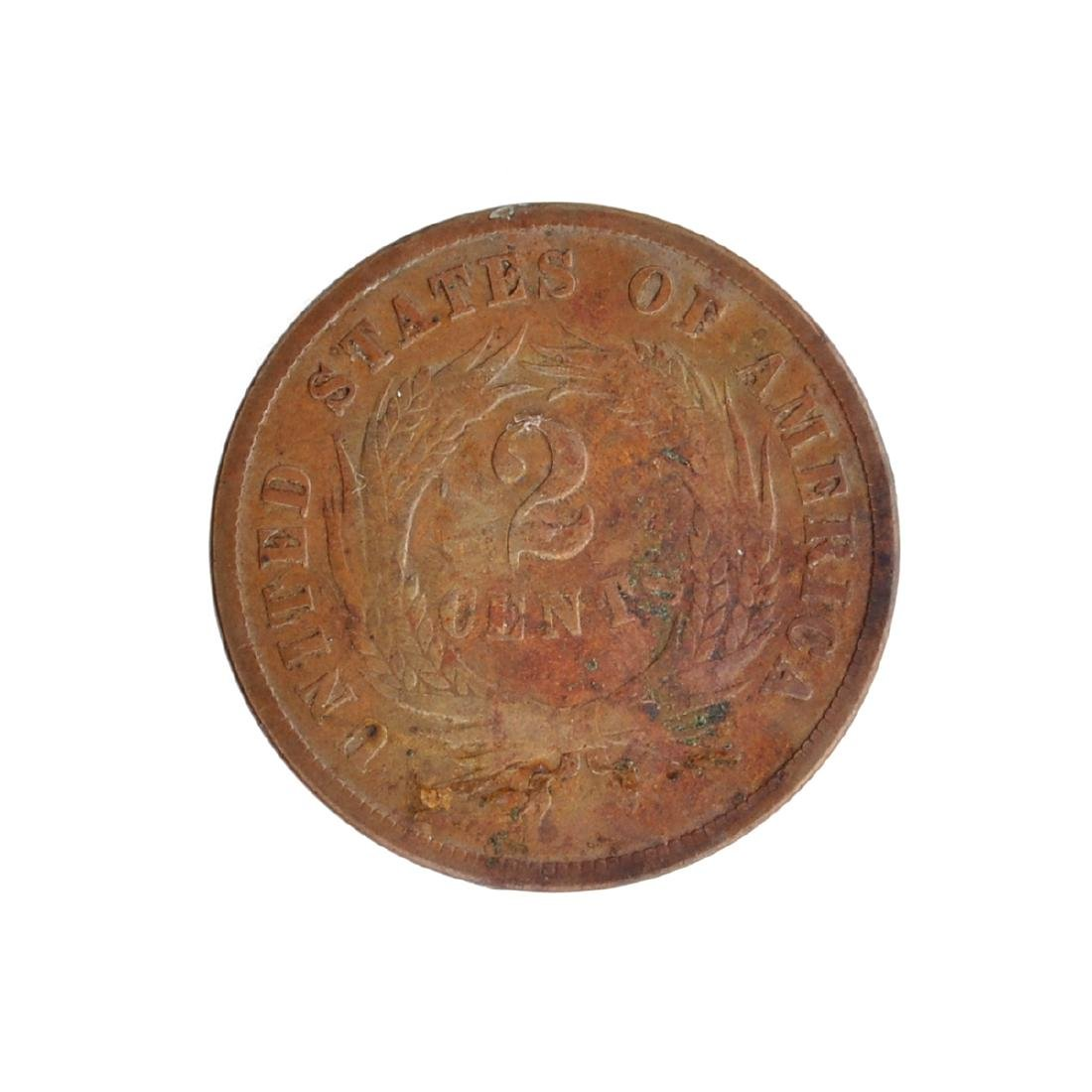 1868 Two-Cent Coin - 2