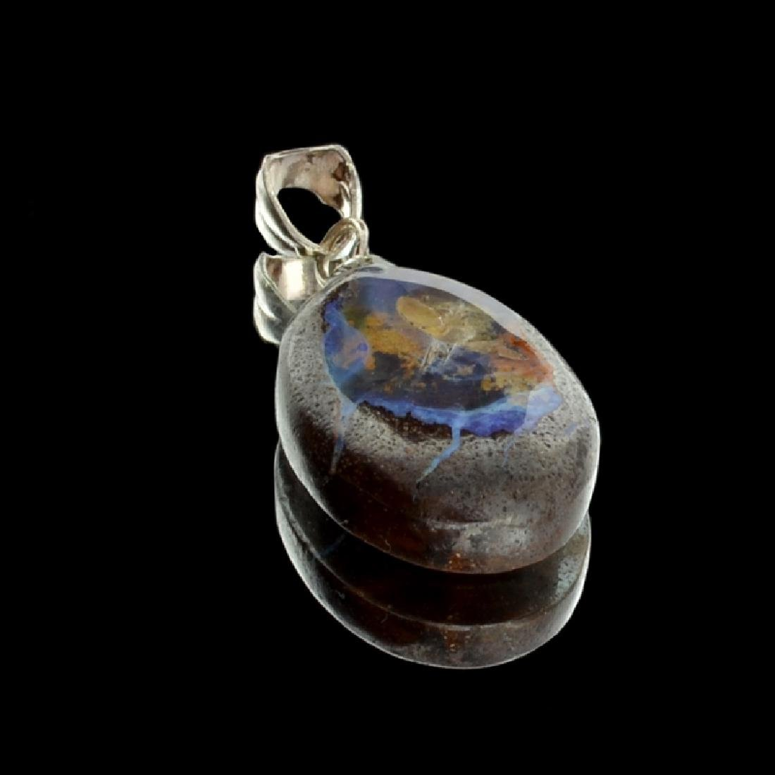 7.75CT Boulder Opal Sterling Silver Pendant