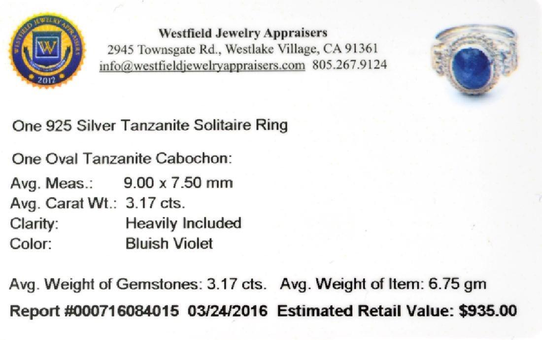 APP: 0.9k Fine Jewelry 3.17CT Oval Cut Tanzanite And - 2