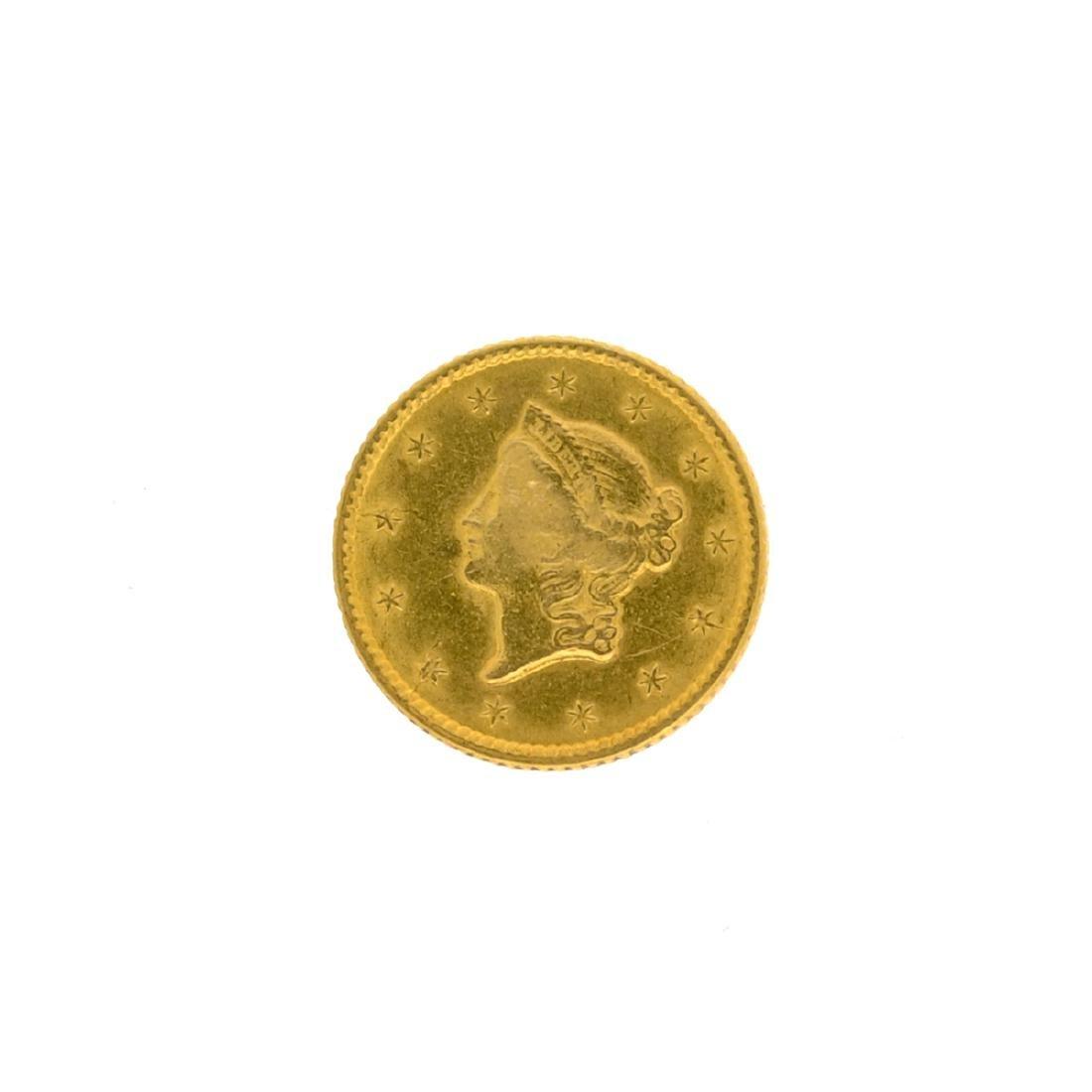 1853 $1 U.S. Liberty Head Gold Coin - 2