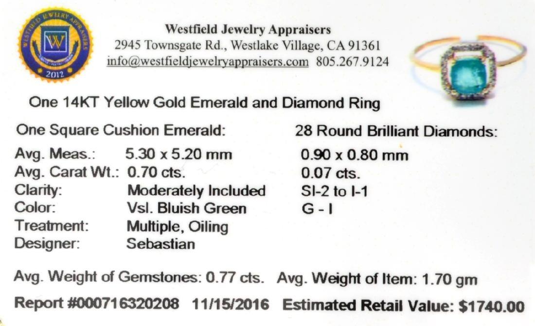DesignerSebastian 14 KT Gold, 0.70CT Cushion Cut - 2