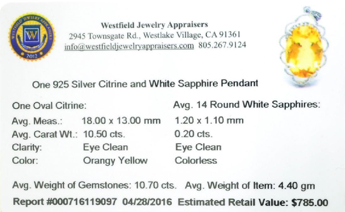 APP: 0.8k Fine Jewelry 10.70CT Citrine And White - 2