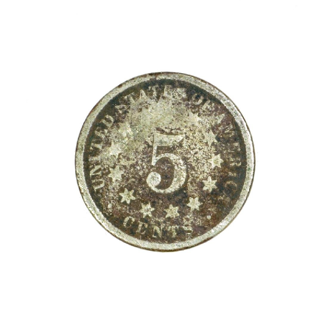 1869 Nickel Five Cent Piece Coin