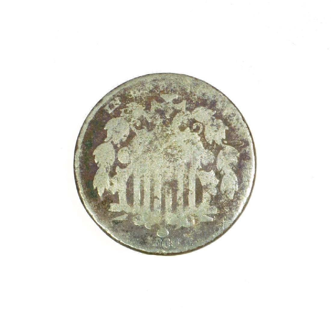 1869 Nickel Five Cent Piece Coin - 2