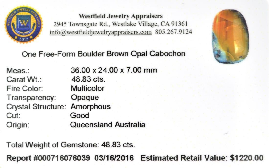 APP: 1.2k 48.83CT Free Form Cabochon Brown Boulder Opal - 2