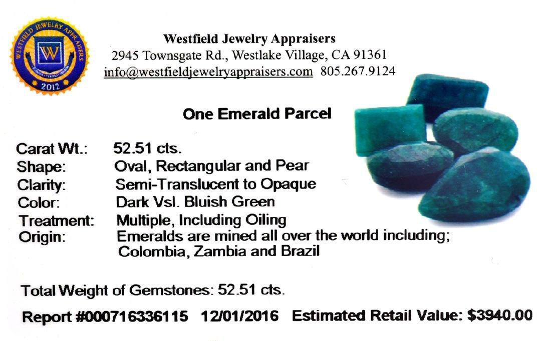 APP: 3.9k 52.51CT Green Emerald Parcel - 2