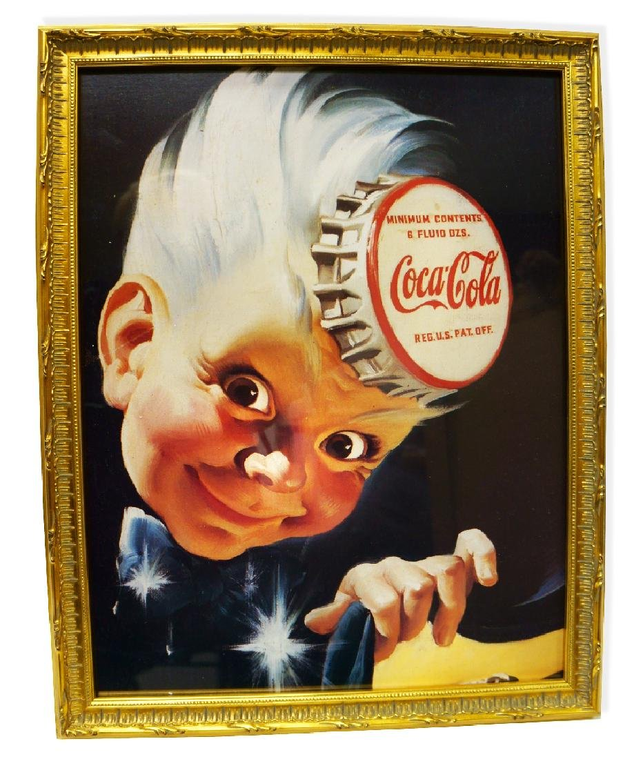 Museum Framed Coca-Coca Advertising  16x19.75