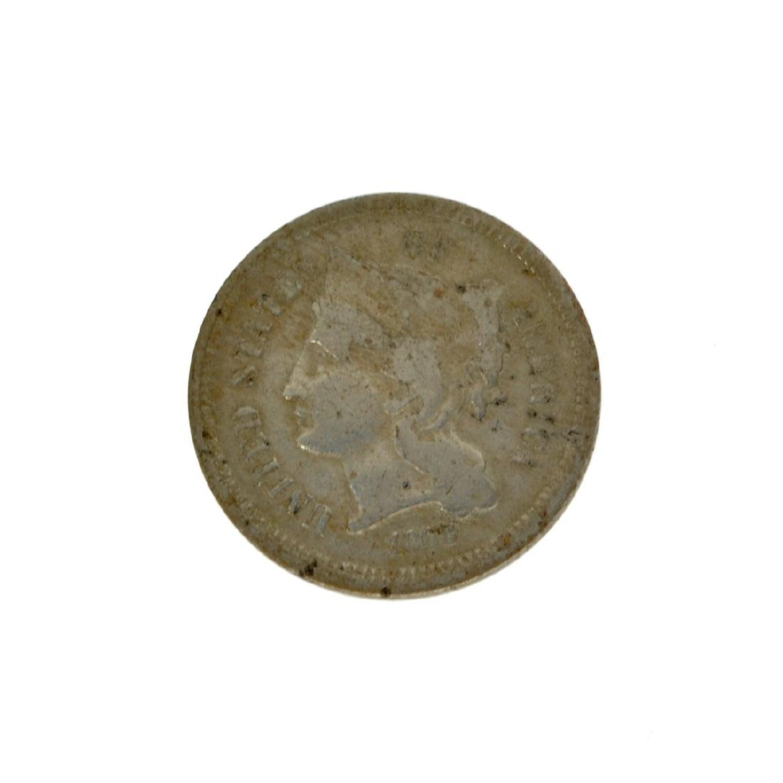 Rare 1868 Three-Cent Piece Nickel Coin