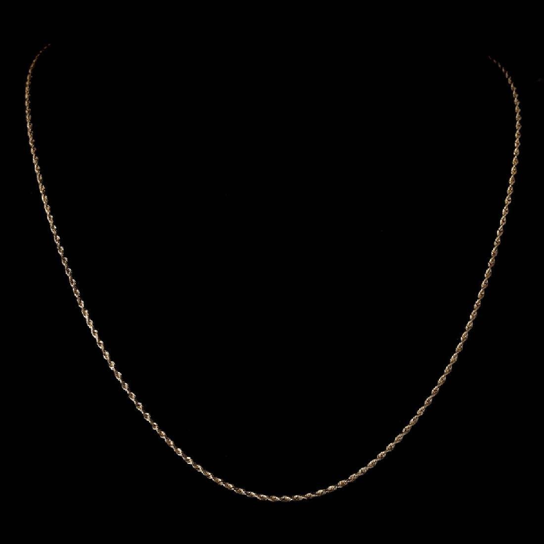*Fine Jewelry 14 KT Gold, 3.7GR, 18'' Diamond Cut Rope