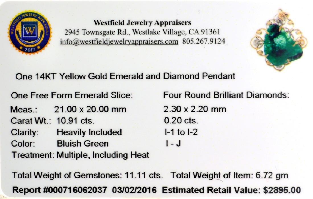APP: 2.9k Fine Jewelry 14 KT Gold, 10.91CT Free Form - 2