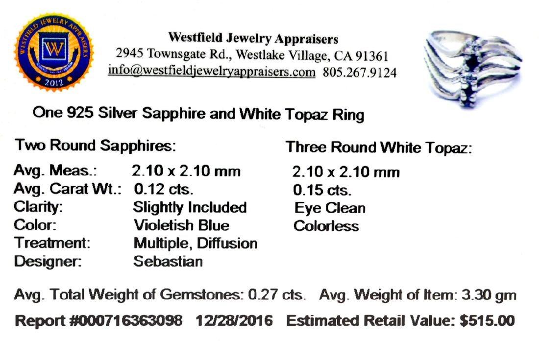Fine Jewelry Designer Sebastian 0.27CT Round Cut - 2
