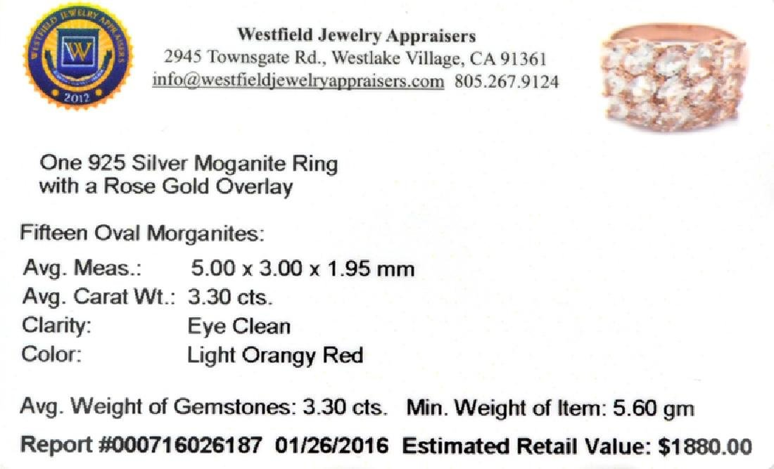 APP: 1.9k Fine Jewelry 5.00CT Oval Cut Morganite Over - 2