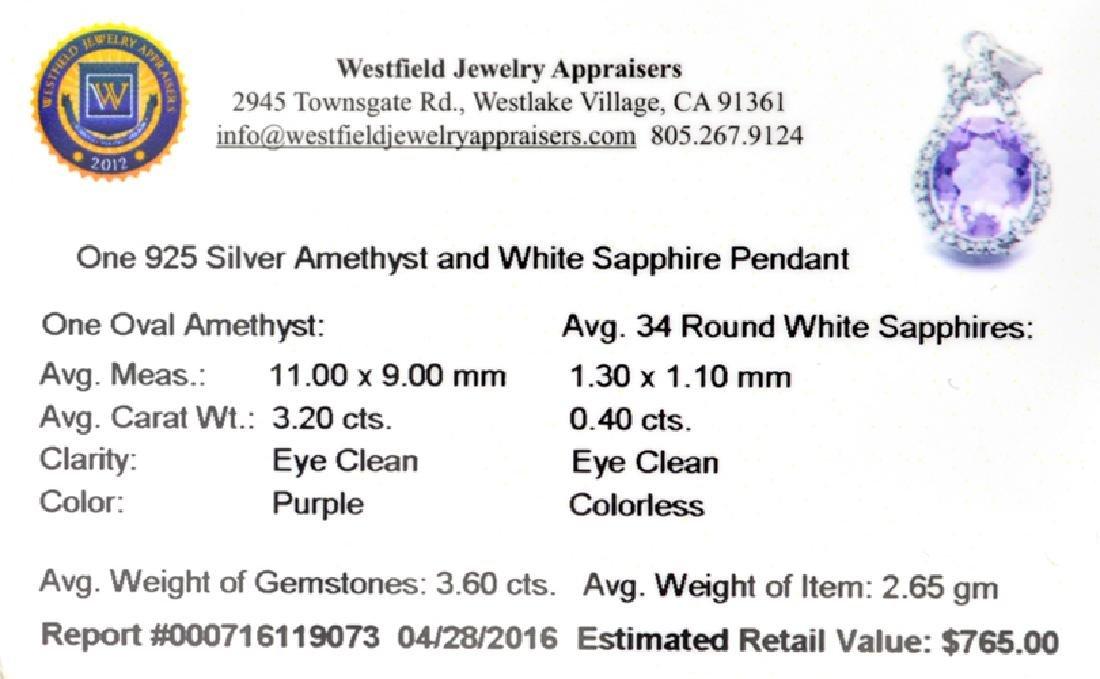 APP: 0.8k Fine Jewelry 3.60CT Purple Ametrhyst And - 2