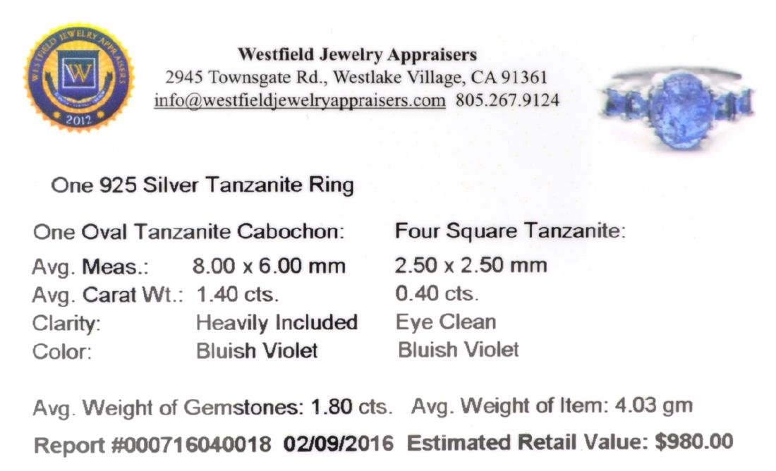 APP: 1k Fine Jewelry 1.40CT Oval Cut Tanzanite And - 2