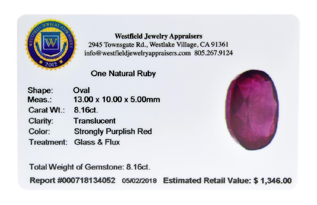 APP: 1.3k Extra Large Size 8.16CT Ruby Gemstone Very - 2