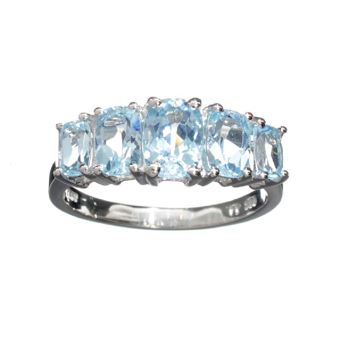 Fine Jewelry 2.00CT Oval Cut Light Blue Aquamarine