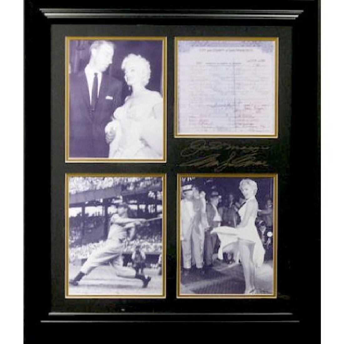Marilyn Monroe & Dimaggio - Plate Signatures