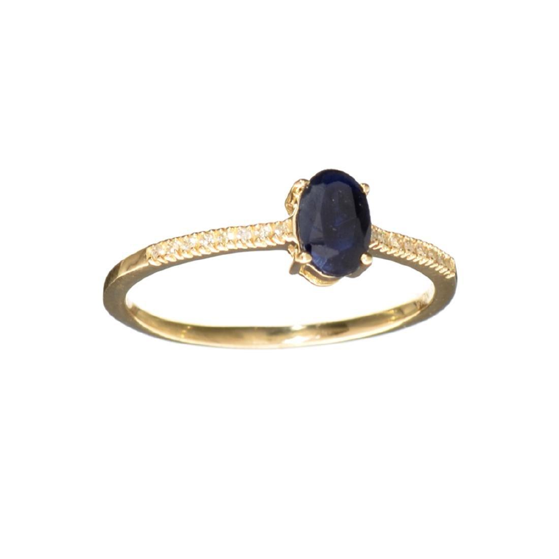 Designer Sebastian 14 KT Gold 0.61CT Oval Cut Sapphire