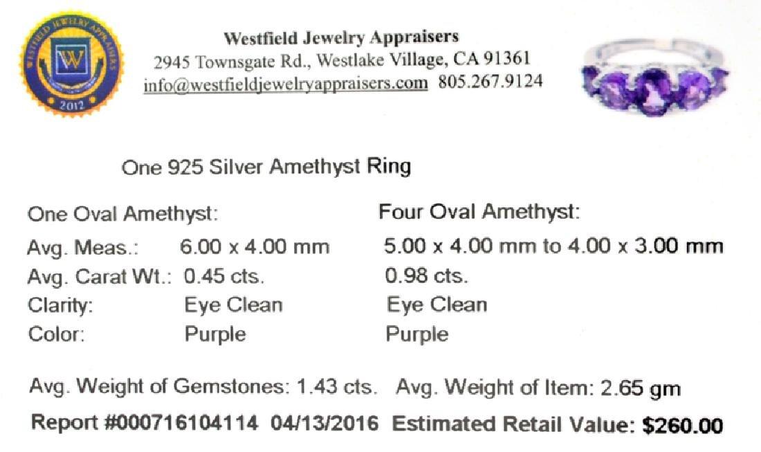 APP: 0.3k Fine Jewelry 1.43CT Oval Cut Purple Amethyst - 2